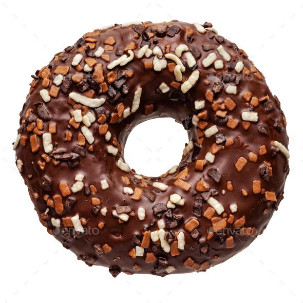 Fresh chocolate doughnut - Stock Photo - Images