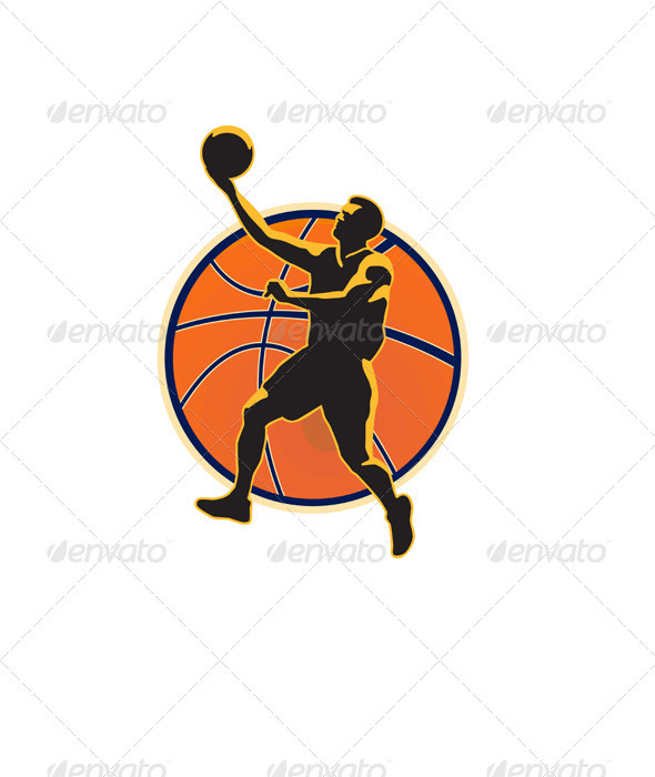 Basketball Player Lay Up Ball - Sports/Activity Conceptual