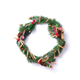 Christmas wreath on white background. New year composition. Top view, flat lay. Copy space. Decor - PhotoDune Item for Sale
