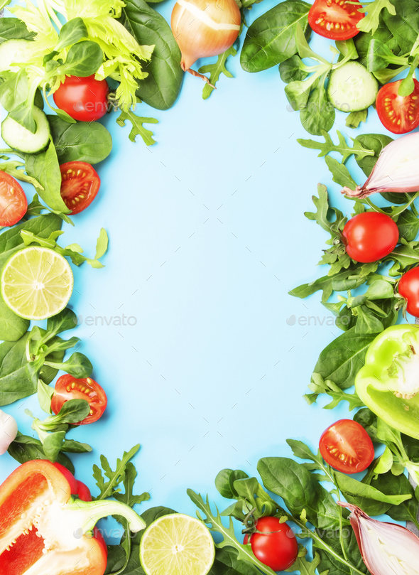 Healthy food frane - Stock Photo - Images