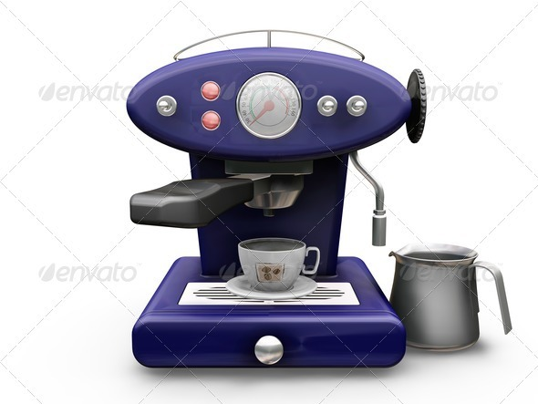 Coffee machine - Objects 3D Renders