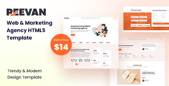 Reevan – Web & Marketing Agency HTML5 Template