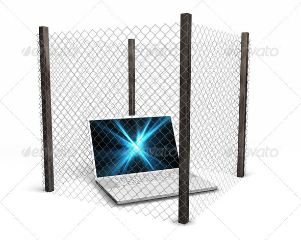 Computer security - Technology 3D Renders