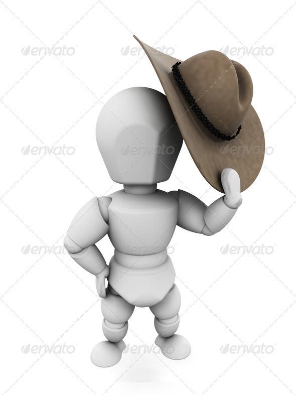 Cowboy - Characters 3D Renders