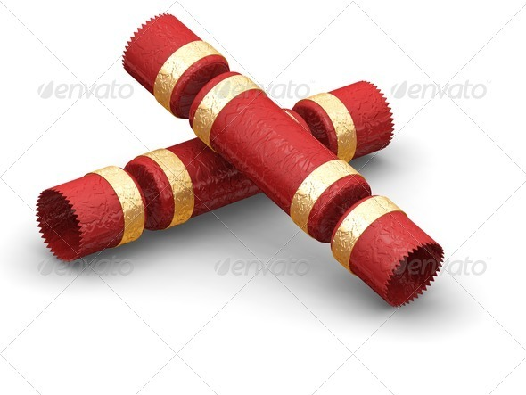 Christmas crackers - Objects 3D Renders