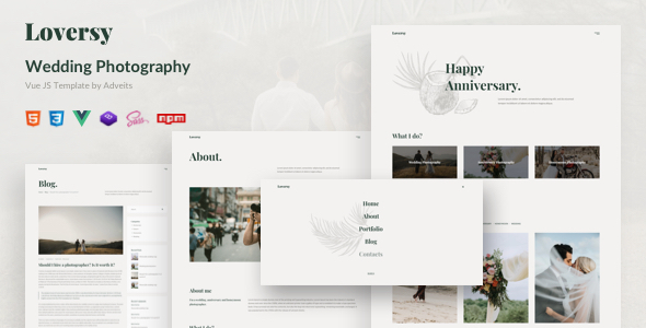 Loversy - Wedding Photography Vue JS Template