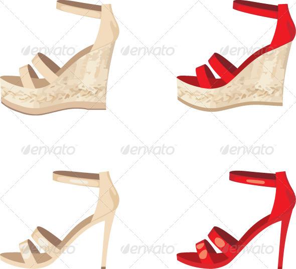Female shoes set - Conceptual Vectors