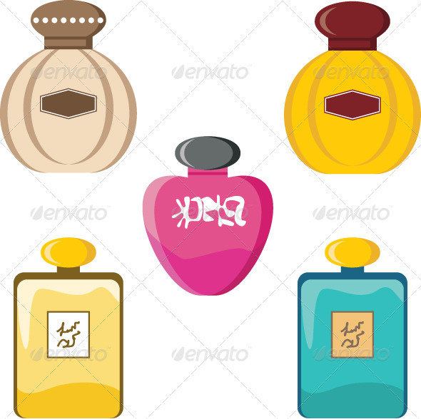 Perfumery set - Objects Vectors