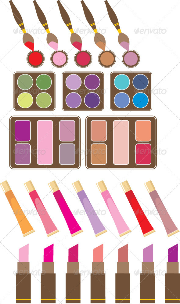 Set of decorative cosmetics - Conceptual Vectors