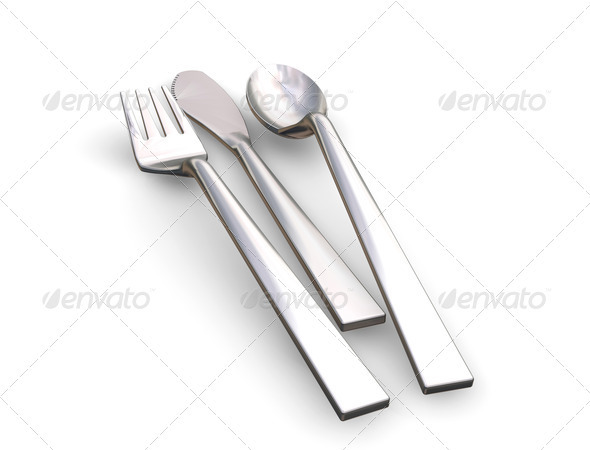 Cutlery - Objects 3D Renders