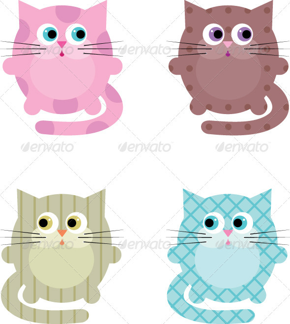 Cartoon cats - Animals Characters