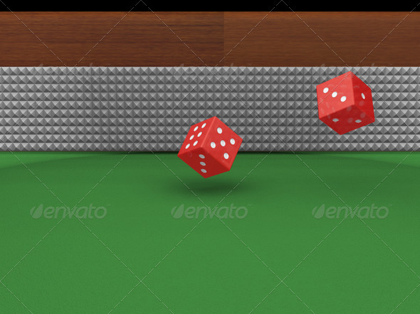Rolling dice - Objects 3D Renders