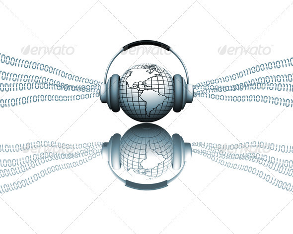Digital music - Technology 3D Renders