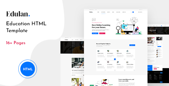 Edulan - Education HTML Template