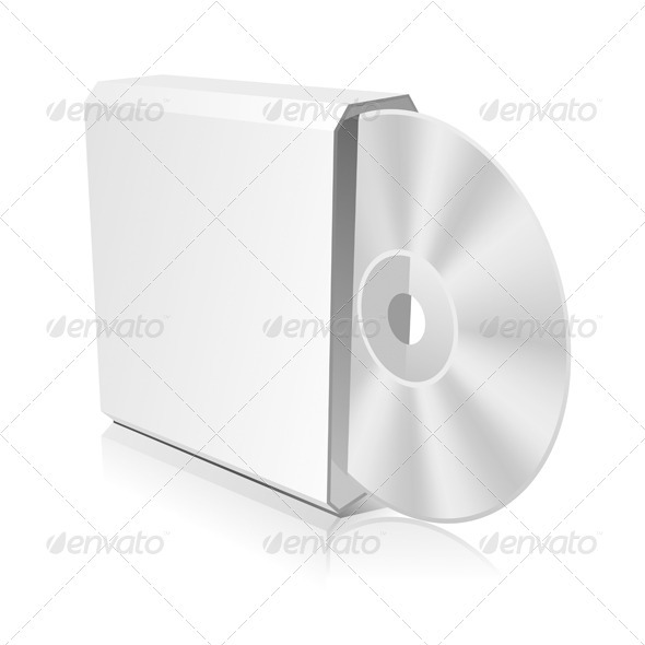 CD Box Template - Miscellaneous Vectors