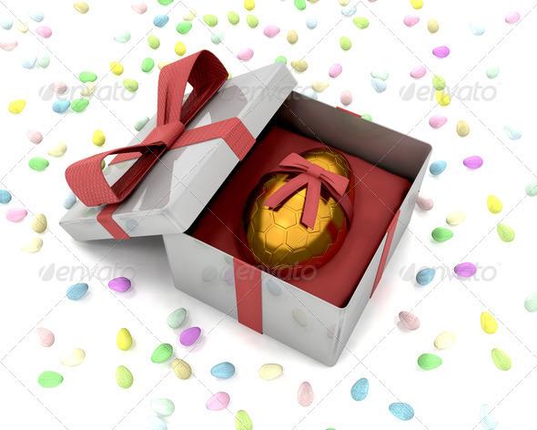 Golden Easter egg - Objects 3D Renders