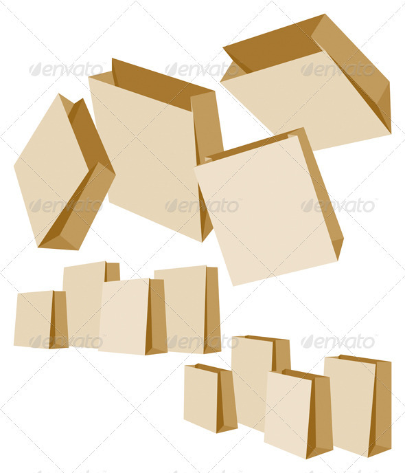 Set of Paper Bags - Retail Commercial / Shopping