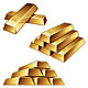 Gold Bars on White Background - GraphicRiver Item for Sale