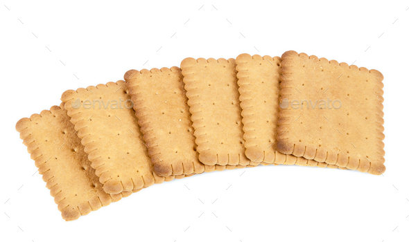 Biscuits on white background - Stock Photo - Images