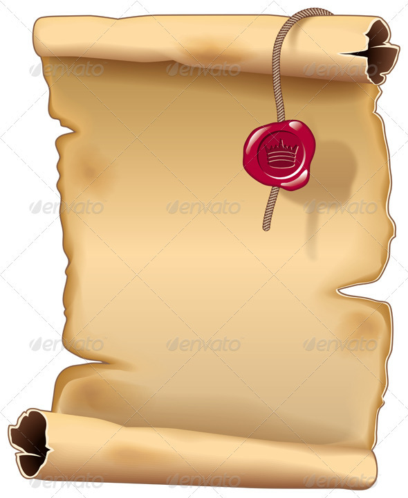 Ancient Parchment Scroll - Backgrounds Decorative