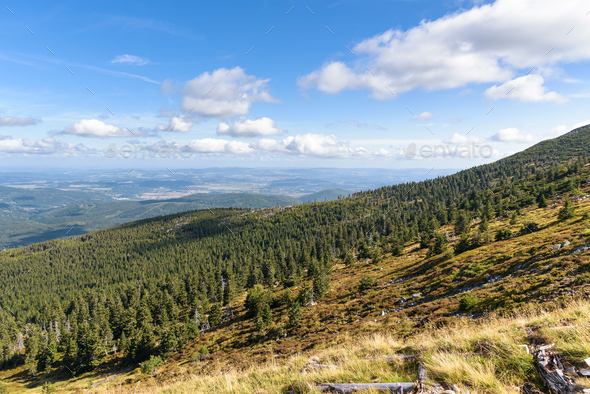 Picturesque view of Giant mountains in Poland - Stock Photo - Images
