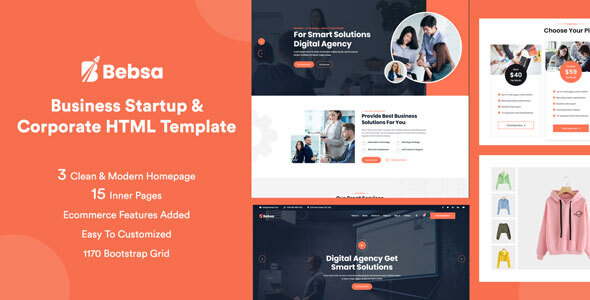 Wondrous Bebsa - Corporate Business HTML Template