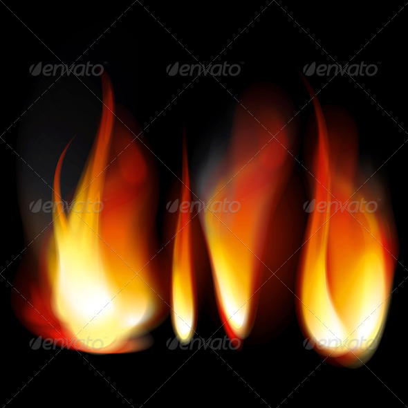 Flame Tongues - Abstract Conceptual