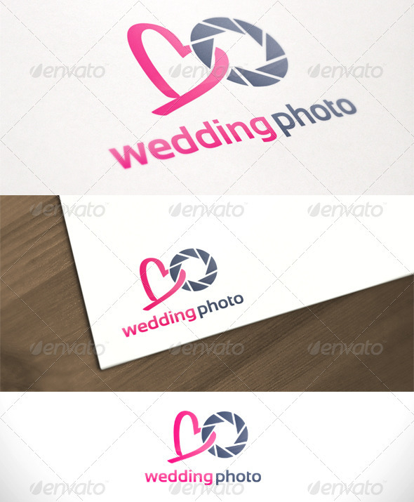 Wedding Photography Studio Logo: Wedding Photo Studio Photography Logo Template By Gbs