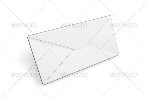 Blank envelope - Objects 3D Renders