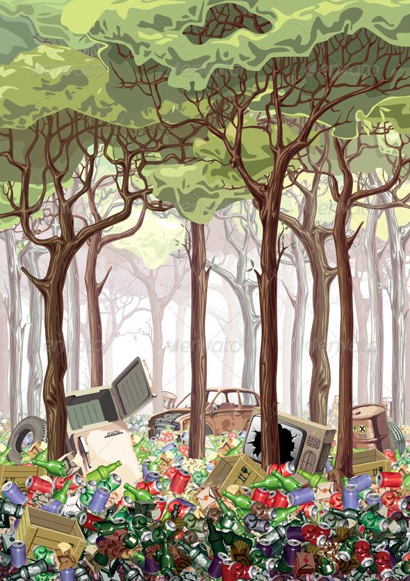 Junk Forest - Nature Conceptual