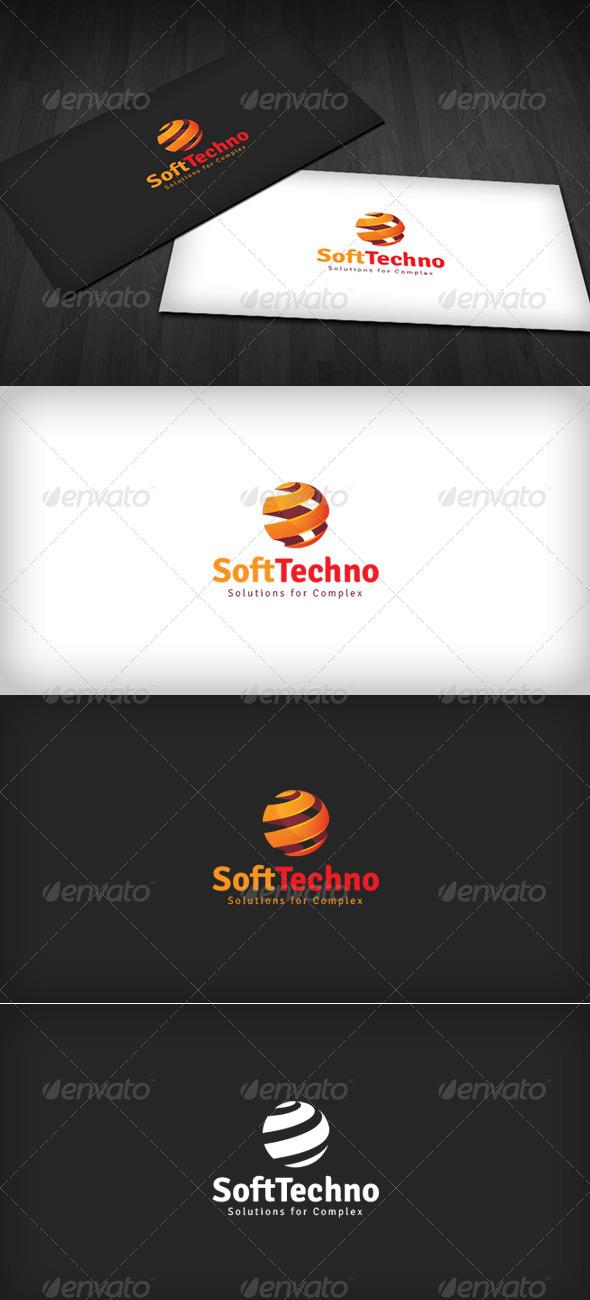 SoftTech Logo - 3d Abstract