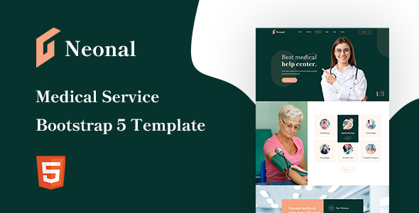 Neonal – Medical Service Bootstrap 5 Template