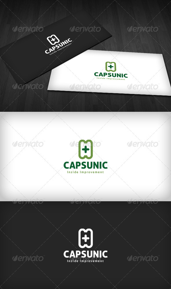 Capsule Clinic Logo - Vector Abstract