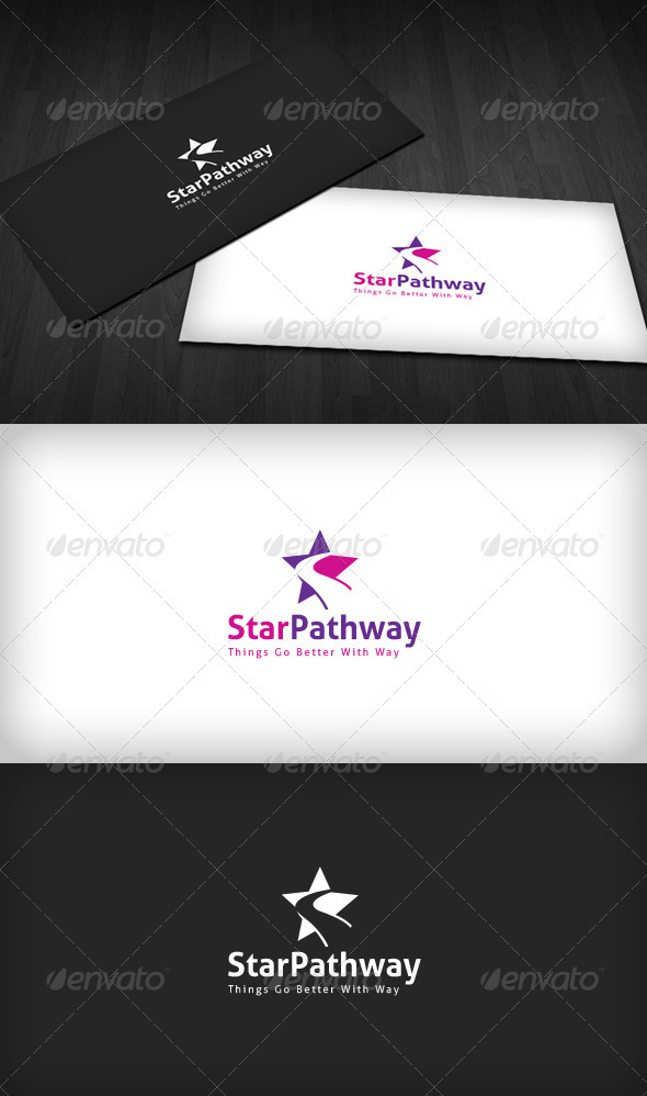 Star Pathway Logo - Vector Abstract