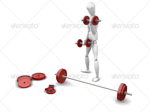 Weight lifting - Characters 3D Renders