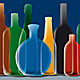 Group of Alcohol Bottles Background - GraphicRiver Item for Sale