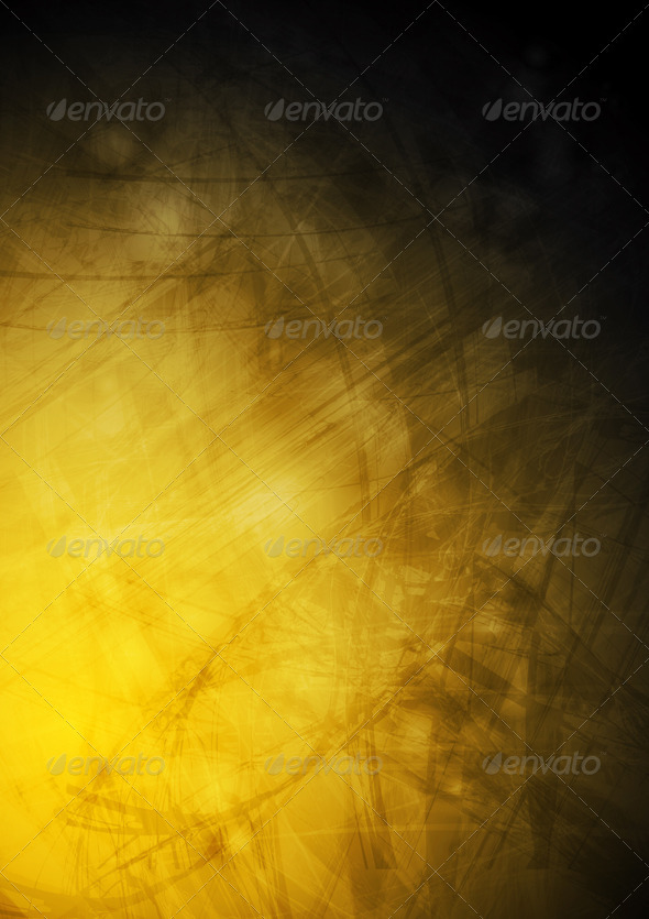 Grunge dark yellow texture - Backgrounds Decorative