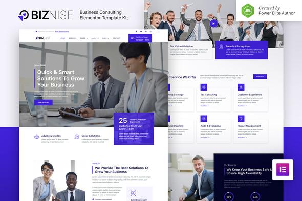 Biznise – Business Consulting Elementor Template Kit