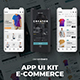 UI Kit Mobile App for an E-Commerce Clothing Store