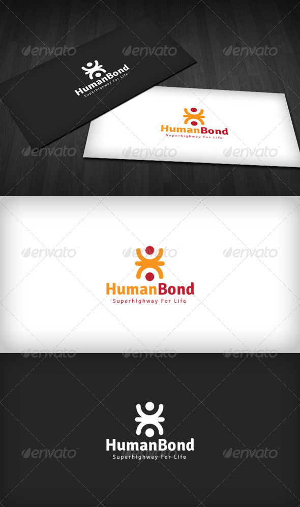 Human Bond Logo - Humans Logo Templates