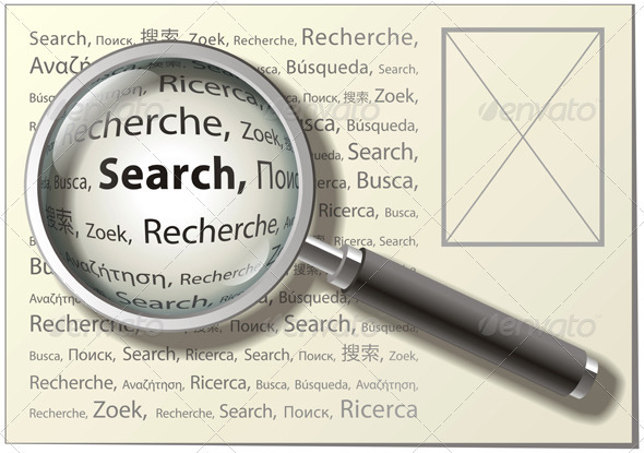 Magnifying Glass - Backgrounds Decorative