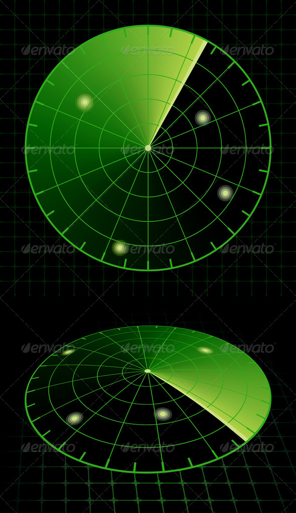 Radar Screen - Technology Conceptual