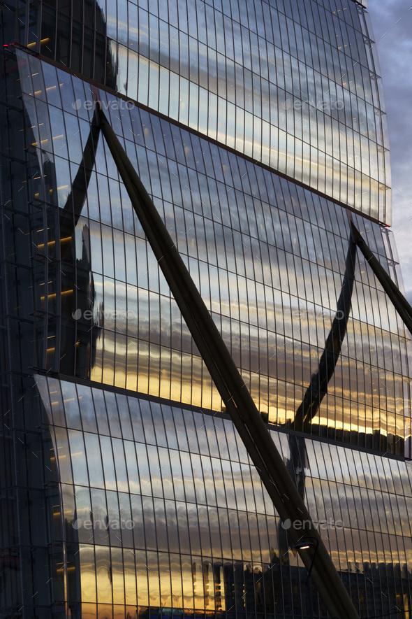 Milan, Italy: modern Citylife park: the Isozaki tower - Stock Photo - Images