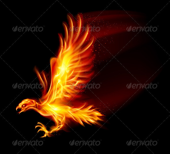 Flaming Hawk - Decorative Symbols Decorative