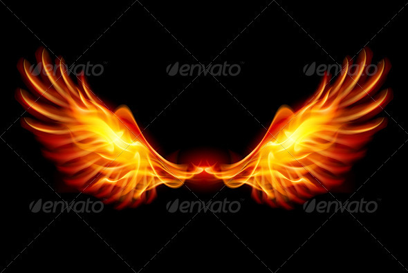 Burning Wings - Abstract Conceptual