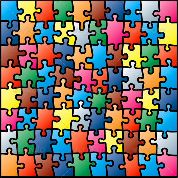 Jigsaw Puzzle Background By Fixer00