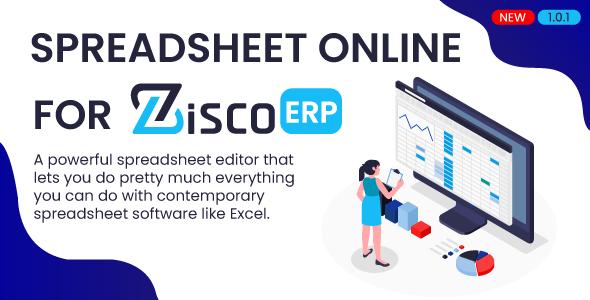 Spreadsheet online for ZiscorERP
