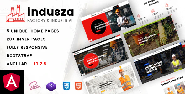 Indusza – Industrial & Factory Angular Template