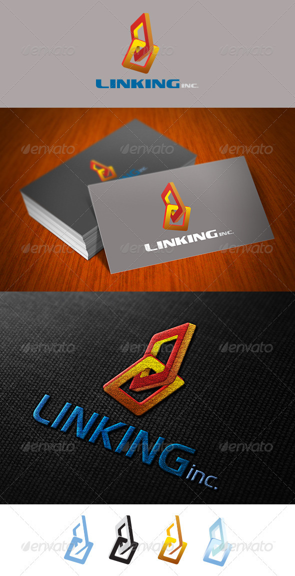 Linking Logo Template  - Vector Abstract