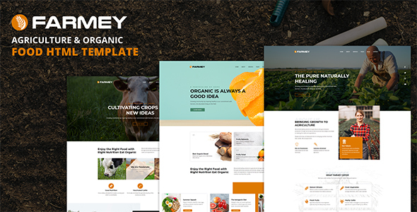 Farmey - Agriculture & Farm Food HTML Template